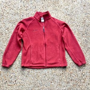 Columbia Full Zip Women's Red Fleece Size M